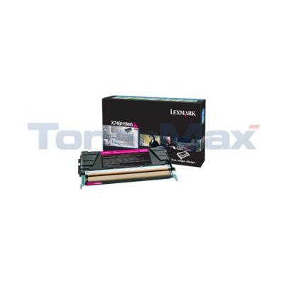 LEXMARK X748 TONER CARTRIDGE MAGENTA RP HY